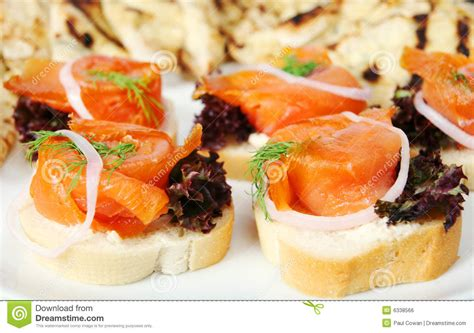 salmon canapes smoked salmon canapes stock photo image of salmon food
