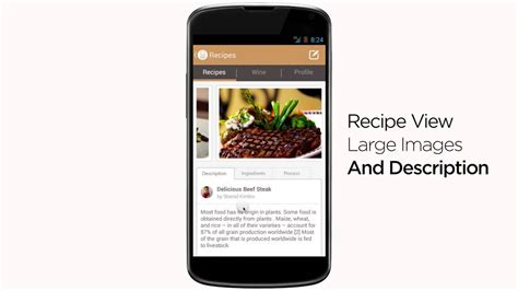 application cuisine android food app template for android source code for sale
