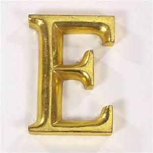 Gold gilded letter e my art decor pinterest for Gold letter e