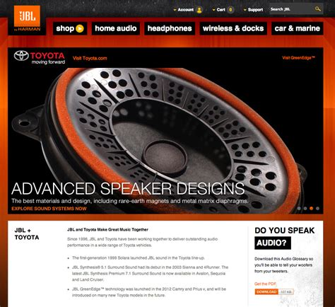 website toyota carknack jbl toyota website
