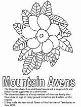 Coloring Mountain Territories Avens Northwest Mountains Pages Canadian Kidzone Flower Ws Quilt Hard Nwt Guides Canada Kantri Papa Posted Am sketch template
