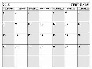 search results for free printable calendar feb 2015 With calendar template for february 2015
