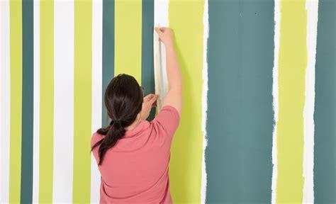 Wände Streichen Streifen by Streichen Farbe In Streifen Maltechniken Selbst De