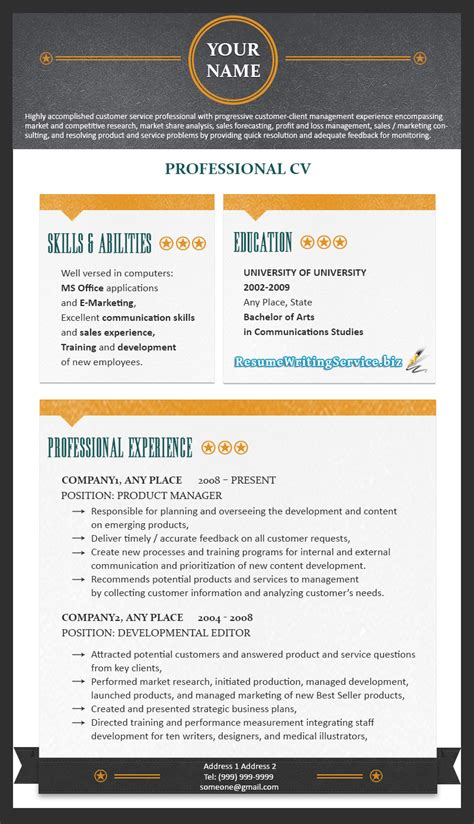 Us Resume Format 2015 by Professional Resume Format 2015 Resume Writing Service