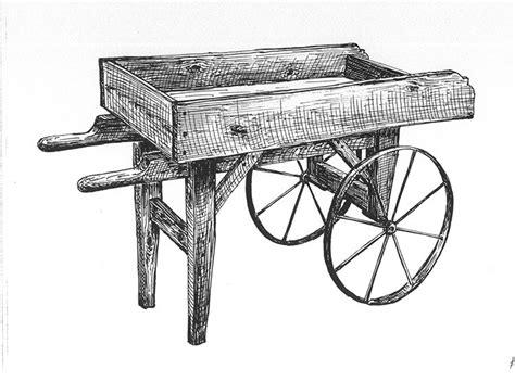 plans  hardware  fashioned wooden vendor cart