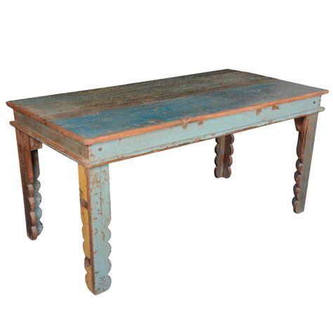 rustic farmhouse reclaimed wood rectangular kitchen table