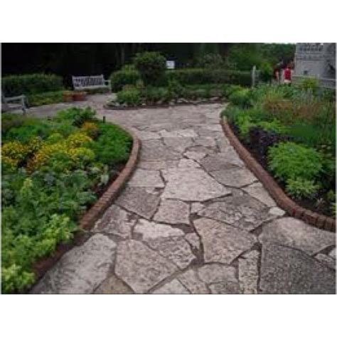 walkway edging material flagstone path with brick edging outdoor landscaping pinterest
