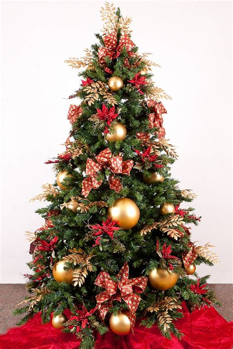 red gold christmas tree design ideas luxury lifestyle