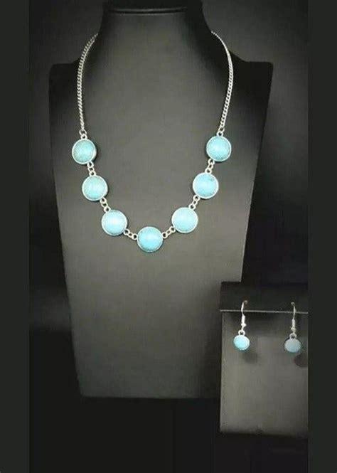 paparazzi jewelry necklace adobe attitude blue angies