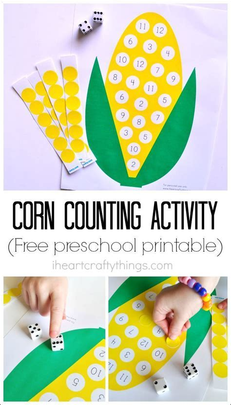 Preschool Corn Counting Activity with Printable ...