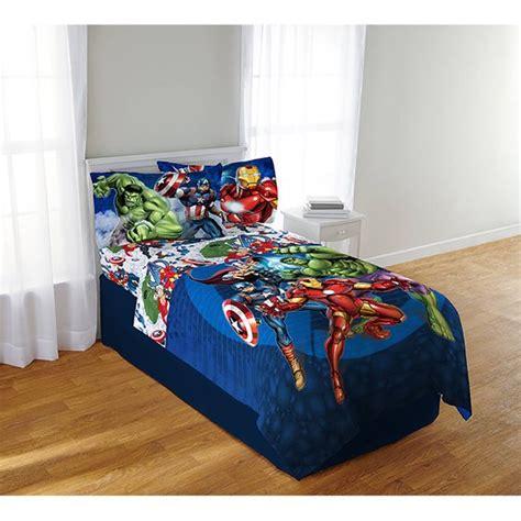 avengers blue circle bedding sheet set twin full