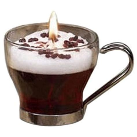 glass coffee candle irish cream scented candle gel