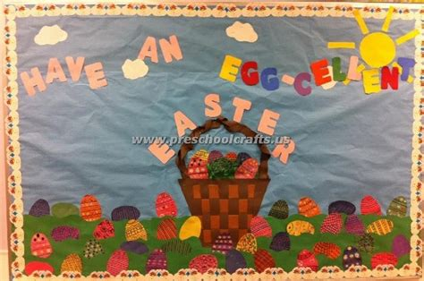 easter egg bulletin board preschool crafts 392 | easter egg bulletin board