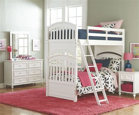 Academy White Bunk Bedroom Set From Legacy Kids