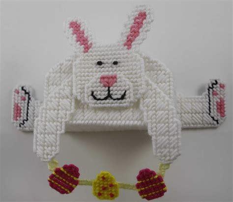 plastic canvas easter bunny shelf sitter plastic canvas