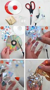 Basteln Mit Alten Weihnachtskugeln : basteln mit alten cds 7 kreative bastelprojekte mit anleitung ~ Whattoseeinmadrid.com Haus und Dekorationen