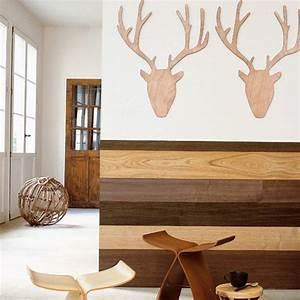 Mur En Bois Intérieur Decoratif : un soubassement en placage de bois marie claire ~ Teatrodelosmanantiales.com Idées de Décoration