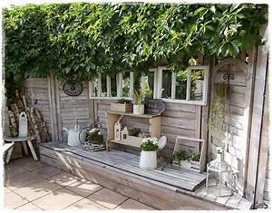 Wohnen Und Garten Landhaus : shabby landhaus die vielen gesichter meiner terrasse sichtschutz sitzplatz gartenideen ~ Buech-reservation.com Haus und Dekorationen