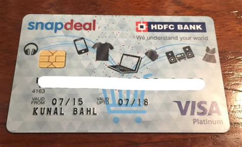 Check spelling or type a new query. Snapdeal launches credit card, in tie-up with HDFC, for tier 2 & 3 markets | IndianOnlineSeller.com