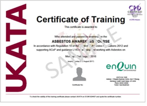 ukata asbestos training enquin
