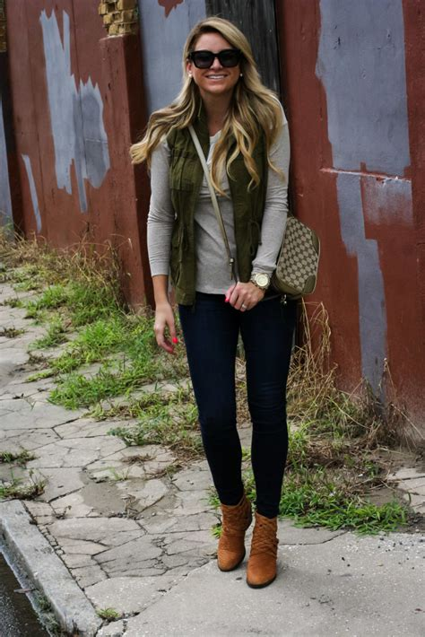 outfit fall tunic cargo vest shop dandy  florida based style  beauty blog  danielle