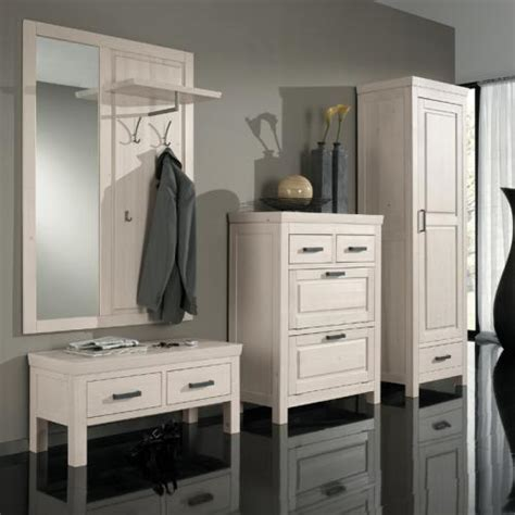 garderoben set massiv komplett garderoben set massiv wei 223 flur garderobe schuhschrank kleiderschrank ebay