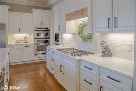 dover white kitchen cabinets shiplap island and wood accents kitchen before 6944