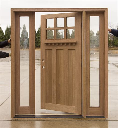 clearance craftsman entry door  active sidelites
