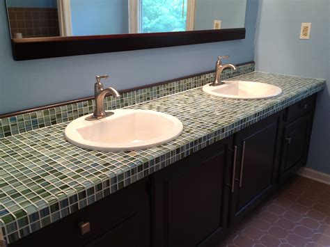 Tile Countertop by Formica To Fabulous Tiling A Glass Mosaic Countertop A