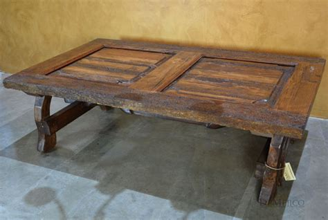 Yugos Rustic Old Door Coffee Table Square Game Table Gear 4x4 Plasma 36 Pedestal White With Drawers Adjustable Dining Lamps Designer Rustic Reclaimed Wood Coffee