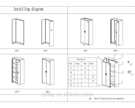 Cupboard Sizes by Assembly Structure Wire Mesh 2 Door Security Steel