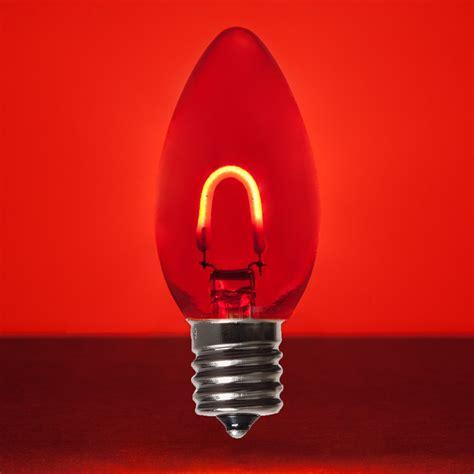red glass flexfilament tm led vintage christmas light