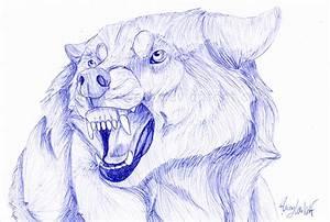 Snarling Wolf Drawing Wolf Snarl Ballpennathalienova On ...