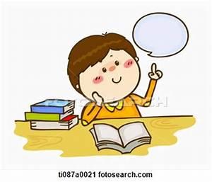 Child Thinking Clipart #127765