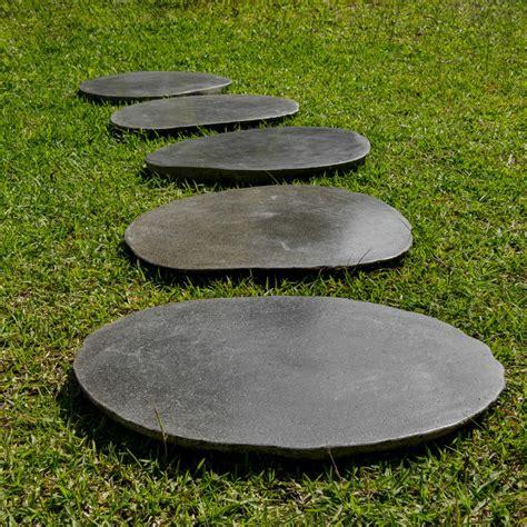 Trittplatten Für Rasen by 2er Pack Flu 223 Stein Trittstein Ca 45 50 Cm Bei