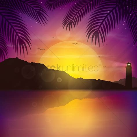 sunset background vector image  stockunlimited
