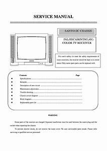 Sanyo Tv 14gx37 Iic Chassis Service Manual Download