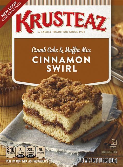 cinnamon swirl crumb cake muffin mixes krusteaz