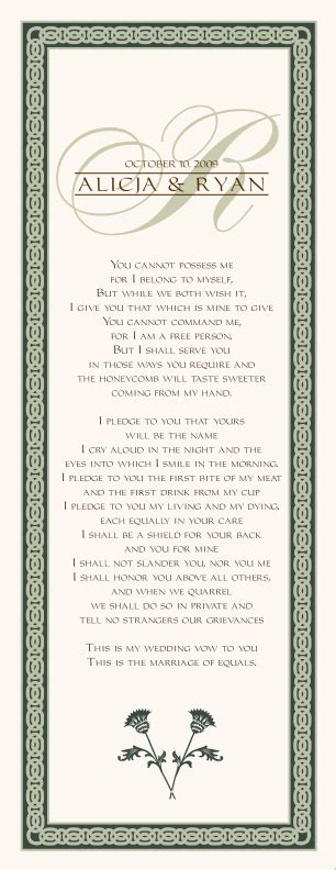 celtic wedding vows celtic wedding programs irish wedding