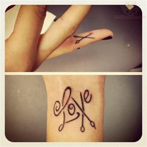 Love Scissor Tattoo On Finger  Things I Love Pinterest