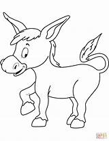 Donkey Coloring Printable Burro Drawing Donkeys Domain sketch template