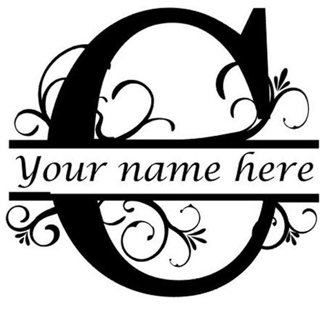 letter  floral initial monogram family  vinyl decal