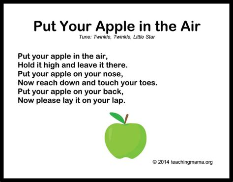 10 autumn songs for preschoolers 653 | Put Your Apple in the Air