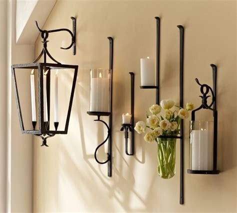 artisanal wall mount candle holder   home