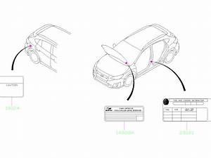 2018 Subaru Crosstrek Label Emission Control  Label