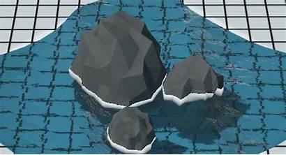 Water Foam Fire Falloff Step Simple
