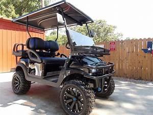 Black  U0026 Blue Phantom Xt Golf Cart