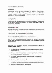 Work Package Template In Word And Pdf Formats