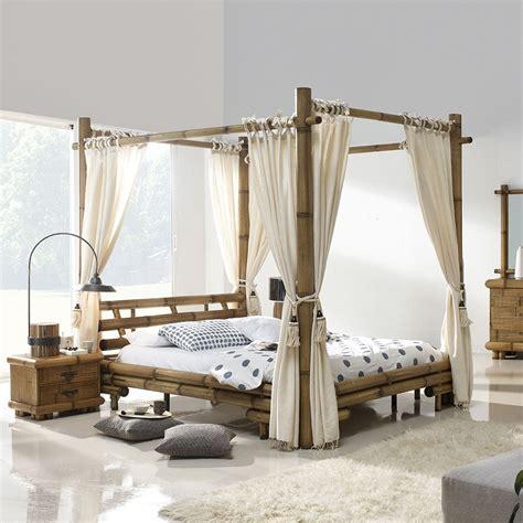 chambre en bambou lit baldaquin bambou bambu 3220