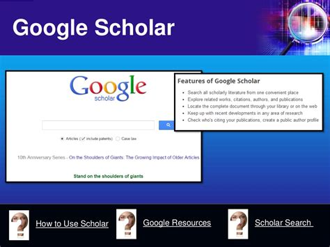 google scholar how to use